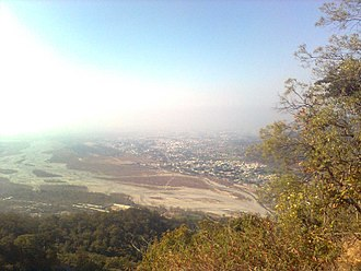 Haldwani - Haldwani-Kathgodam area as seen from Bhimtal-Haldwani Road