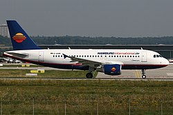 Airbus A319 der Hamburg International
