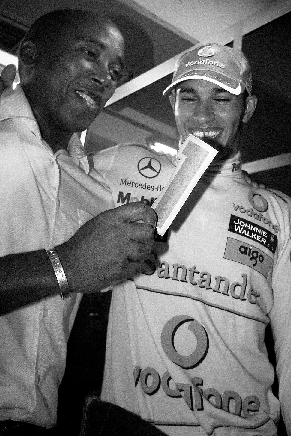 Hamilton and Father Brazil 2008