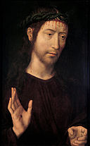 Hans Memling - The Man of Sorrows Blessing - Google Art Project.jpg