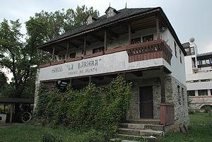"Vălenii de Munte - The ""La barieră"" (""The barrier"") inn, originally located in Vălenii de Munte, can be seen today at the Village Museum in Bucharest."