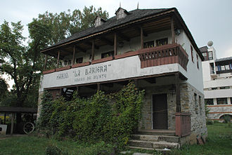 "Vălenii de Munte - The ""La barieră"" (""The barrier"") inn, originally located in Vălenii de Munte, can be seen today at the Village Museum in Bucharest."