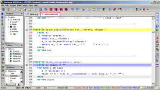 Harbour (software) - Harbour code on HBIDE.