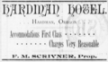Hardman Oregon Hotel Advertisement 1892.png