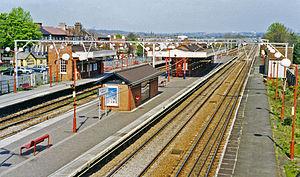 Harold Wood railway station - Harold Wood railway station in 1995