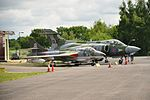 Hawker Hunter and Buccaneer at Yorkshire Air Museum (8227).jpg