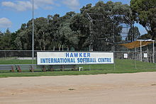 sign for softball centre