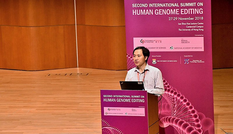 File:He Jiankui at Second International Summit on Human Genome Editing.jpg