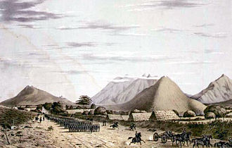Battle of Monterrey - Gen. Worth's division marches on Monterrey from the west