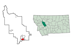 Location in Lewis and Clark County, Montana