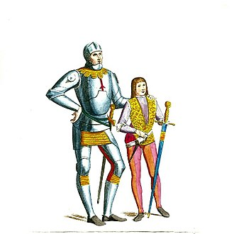 Squire - Image: Helmeted Medieval Knight or Soldier (5)