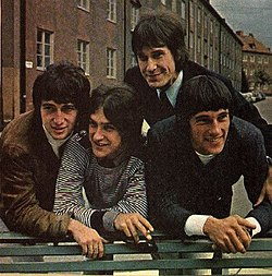 The Kinks vuonna 1965. Pete Quaife, Dave Davies, Ray Davies, Mick Avory.