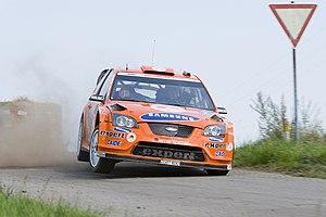 2008 Rallye Deutschland - Henning Solberg driving his Ford Focus RS WRC 07.