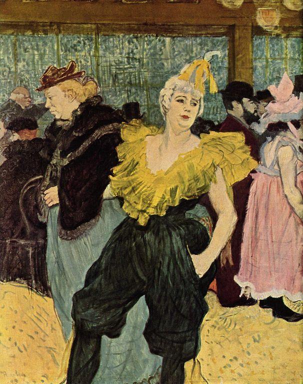 Henri de Toulouse-Lautrec: La Clownesse Cha-U-Kao au Moulin Rouge