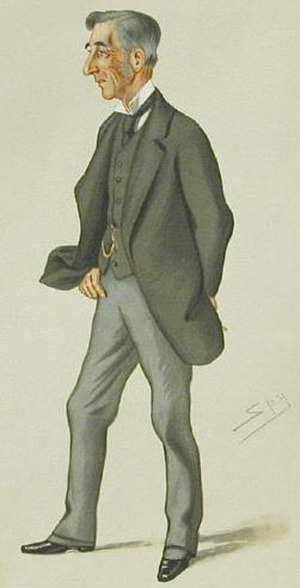 """Henry Elliot - """"Ambassador to the Porte"""" As depicted by """"Spy"""" (Leslie Ward) in Vanity Fair, March 1877"""