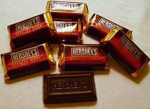 Miniature-sized Hershey's Special Dark chocola...