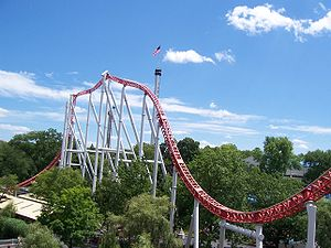 English: Hersheypark Storm Runner. Taken by me...