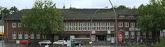Hamburg-Bergedorf station - The demolished, former station building