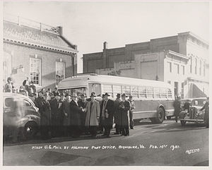 Highway Post Office - First Highway Post Office bus, 1941