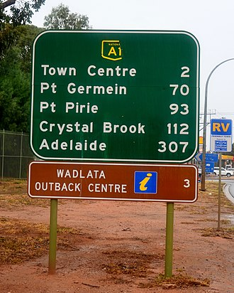 Augusta Highway - Sign at the northern end of the Highway