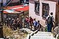 Hike down from the east rim to Lake Atitlan-our group in Panajachel (6996013713).jpg