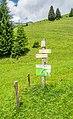 Hiking sign at Le Charnier.jpg
