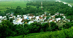 view of Saripalli village from a hillock
