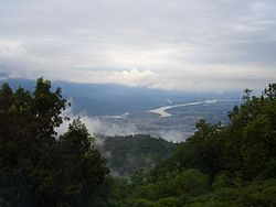 Himalayan view from Ananda spa, Narendra Nagar