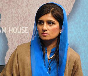 Hina Rabbani Khar - Image: Hina Rabbani Khar, Foreign Minister, Pakistan (cropped)