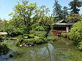 Hishigataike Pond and Nogakuden Hall of Usa Shrine 3.JPG