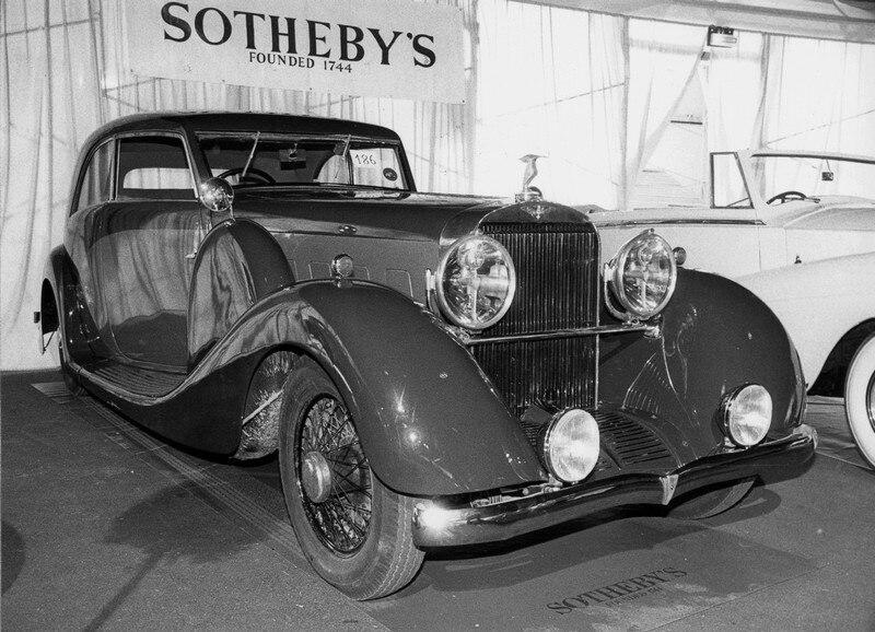 Hispano J12 1933 coach Pourtout - Sotheby's 1989