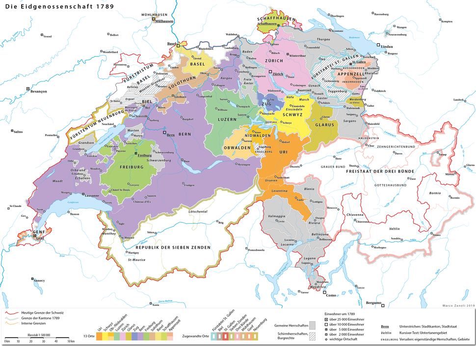The Old Swiss Confederacy in the 18th century