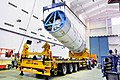 Hoisting of the GSLV-F09 second stage during vehicle integration.jpg