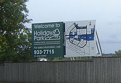 Holiday Park Industrial Map