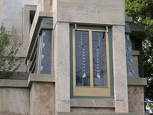 Came glasswork - Frank Lloyd Wright, Hollyhock House, Los Angeles, CA