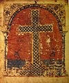 Holy Cross. Mestia Gospels. 11th c. Museum of Mestia.jpg