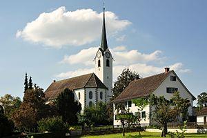 Hombrechtikon - Image: Hombrechtikon Reformierte Kirche, Oetwilerstrasse 2011 08 30 15 57 52