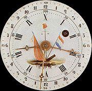 Clock dial.