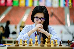 Hou Yifan - Hou Yifan at the 2016 Chess Olympiad in Baku