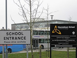 Hounsdown School Academy in Southampton, Hampshire, England