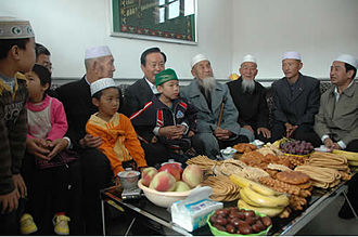 Freedom of religion in China - An ethnic Hui family celebrates Eid