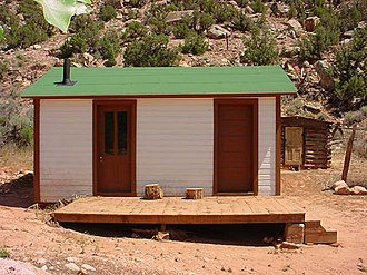 National Register of Historic Places listings in Carbon County, Montana - Image: Hulbert's Cabin Cedardale MT NPS