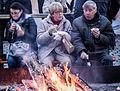 Human and Fire, Schwimmender Christkindlmarkt.jpg