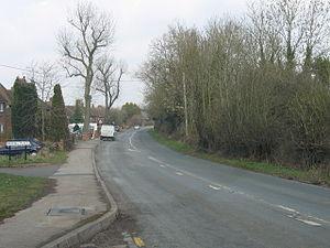 Hunnington - Image: Hunnington, B4551 Looking Towards Halesowen