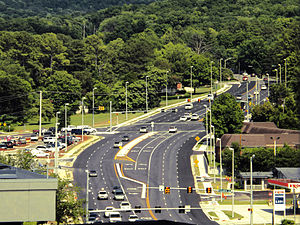 Governors Drive - Governors Drive as it starts to head up Monte Sano Mountain