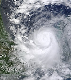 Hurricane Karl - Hurricane Karl rapidly intensifying in the Bay of Campeche on September 16