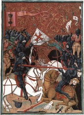 Medieval image of the Battle of Domazlice