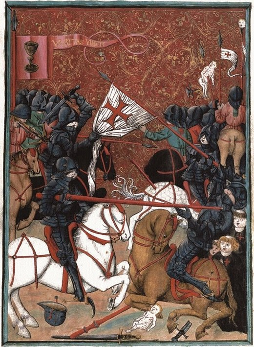 Battle between Hussites and Catholic crusaders, Jena Codex, 15th century Hussitenkriege.tif