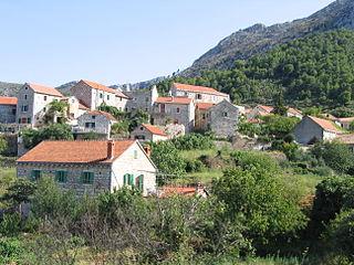 Pitve Village in Split-Dalmatia County, Croatia