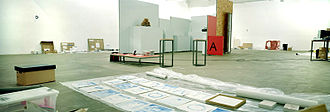 I am a Curator - Installation view from I am a Curator Chisenhale Gallery, 14.12.2003, Lisa Maddigan and Fuyubi Nakamura